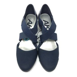 Anne Klein Navy Elastic Strap Pumps Shoes 6US NEW